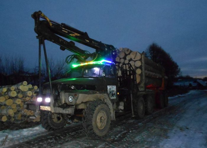ТюнингУрала 4320 тюнинг лесовоза