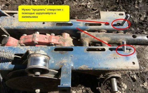 Установка двигателя на мотоблок Крот - шаг 1