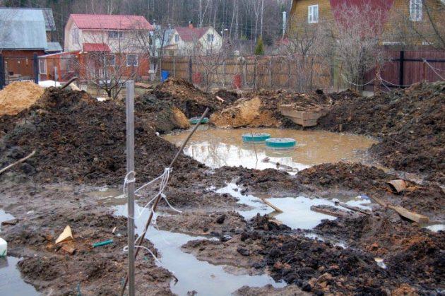 Затопление септика при высоком уровне грунтовых вод
