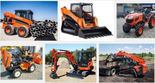 Ассортимент землеройно-транспортной и строительной техники компании Kubota
