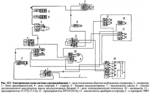 Электрическая схема системы электроснабжения
