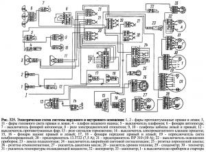 Электрическая схема системы наружного и внутреннего освещения