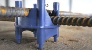 Фиксатор арматуры обеспечивает оптимальную толщину защитного слоя бетона