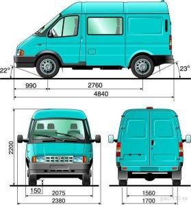 ГАЗ–2752 - размеры