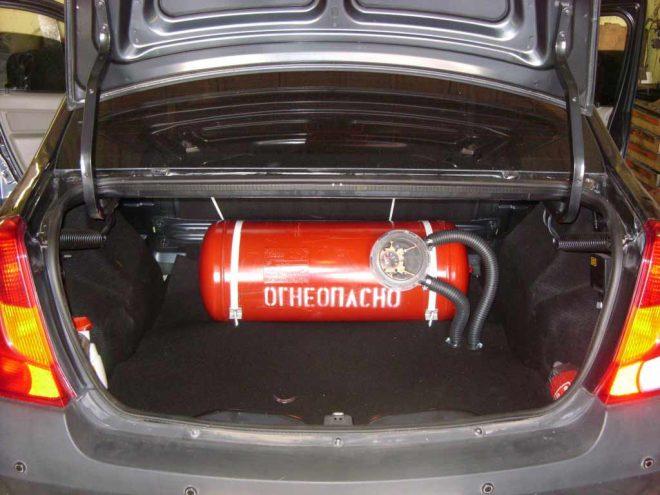 Газовое оборудование на автомобиле
