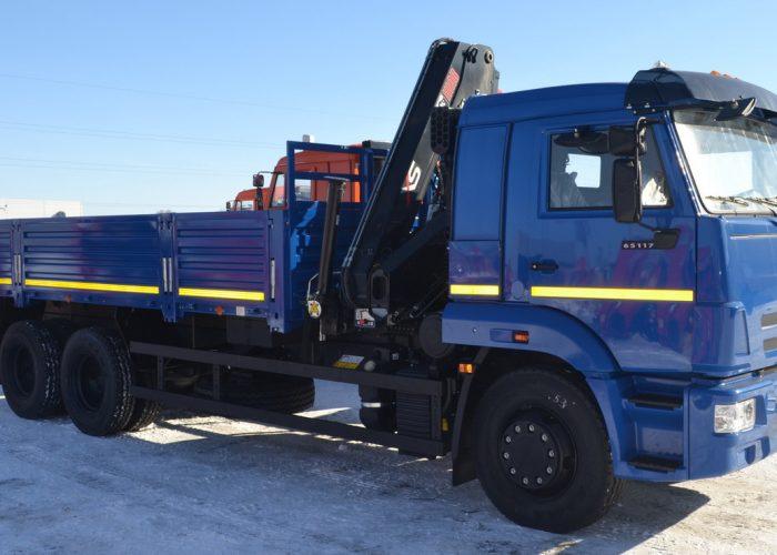КАМАЗ-65117 с КМУ Hiab