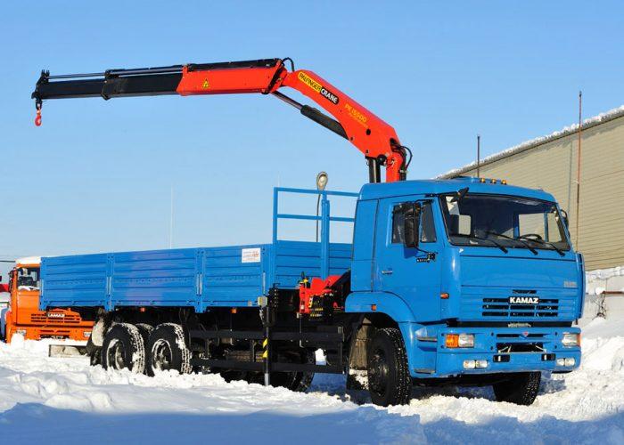 КАМАЗ-65117 с КМУ Palfinger