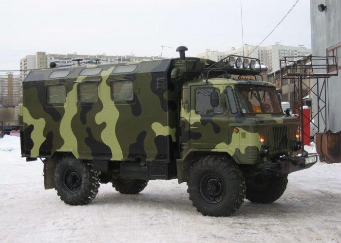 Кунг газ 66 военный