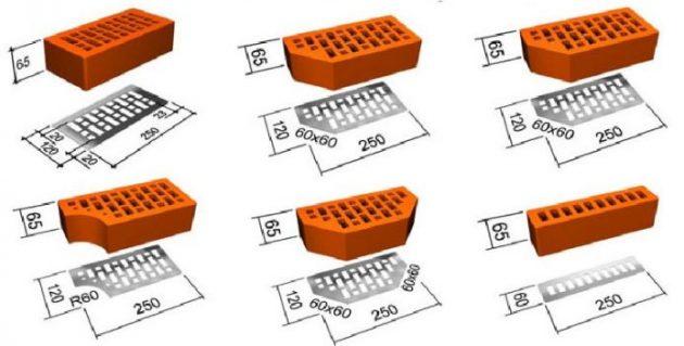 Нестандартные формы клинкерного облицовочного кирпича