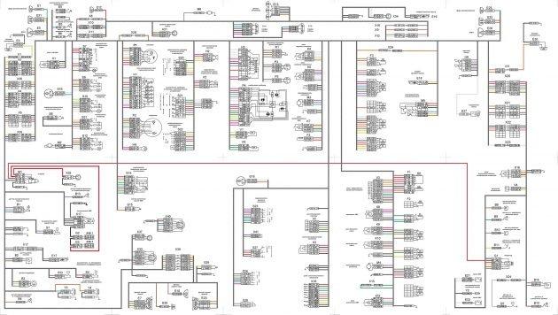 Оригинальная схема электрооборудования и проводки КАМАЗ- 55111
