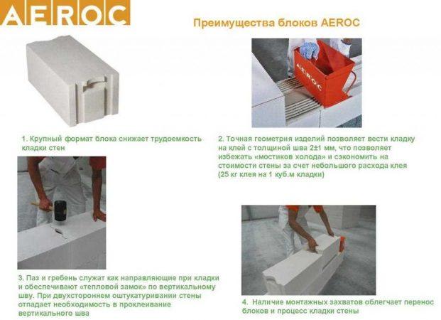 Преимущества блоков Aeroc