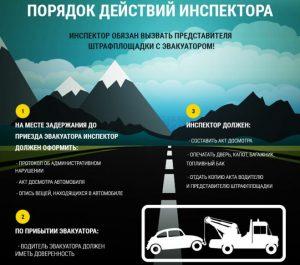 Причины задержания автомобиля эвакуатором