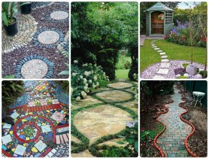 Пример декоративного оформления садовых дорожек