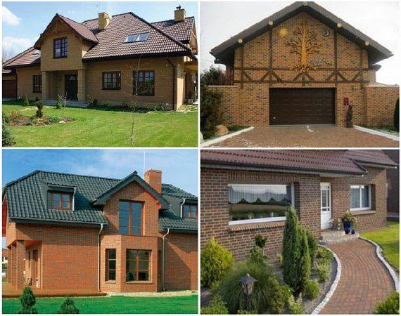 Примеры домов построенных с использованием клинкерного кирпича