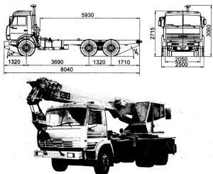 Размеры КАМАЗ 53229