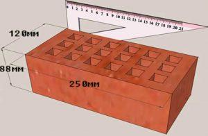 Геометрические параметры полуторного кирпича