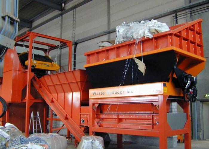 Шредер для переработки смешанного мусора Metso