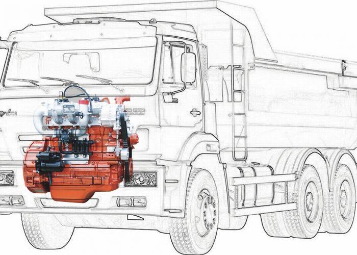 Самосвал КАМАЗ 6520 с газовым двигателем Yuchai