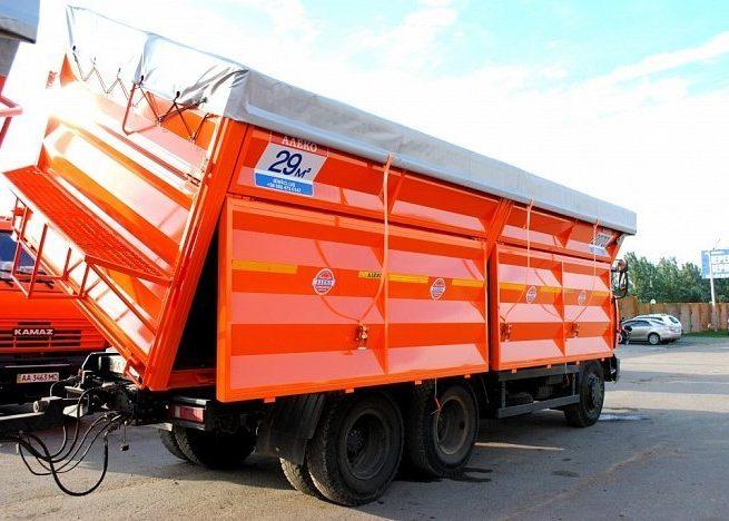 Самосвальный кузов двухмодульный на КАМАЗе 6520