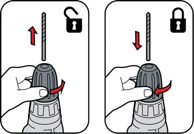 Схема блокировки инструмента