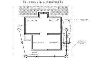 Схема организации строительной площадки при устройстве армопояса