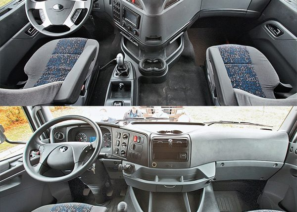 Сравнения кабин нового КАМАЗ-5490 салон внутри