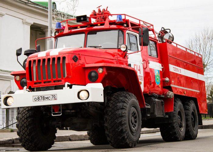 Урал 5557 пожарная машина