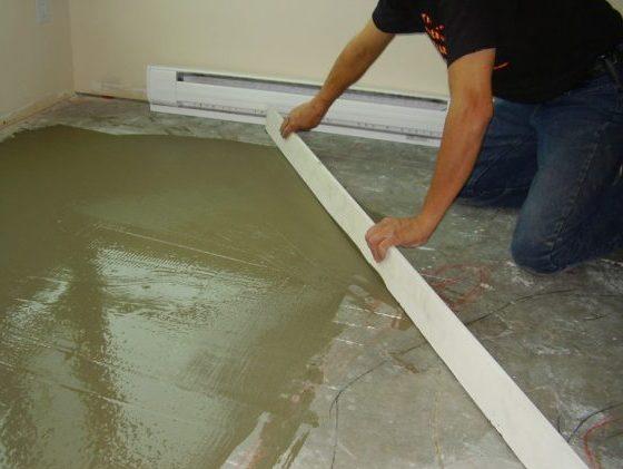 Выровнять бетонный пол