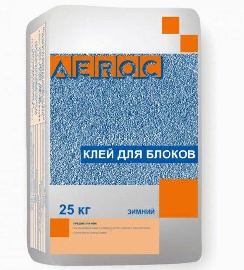 Зимний клей AEROC для газобетона