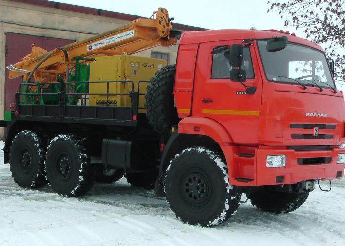 Буровая установка на шасси КамАЗ 5350