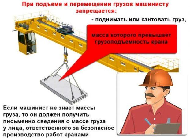 Что запрещается делать крановщику