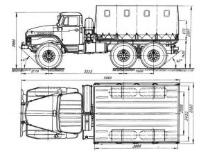 Габаритные размеры Урал-375