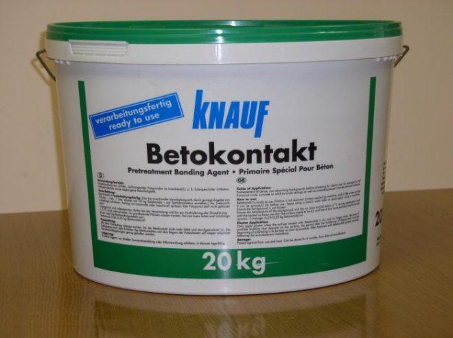 Грунтовка бетоноконтакт Кнауф