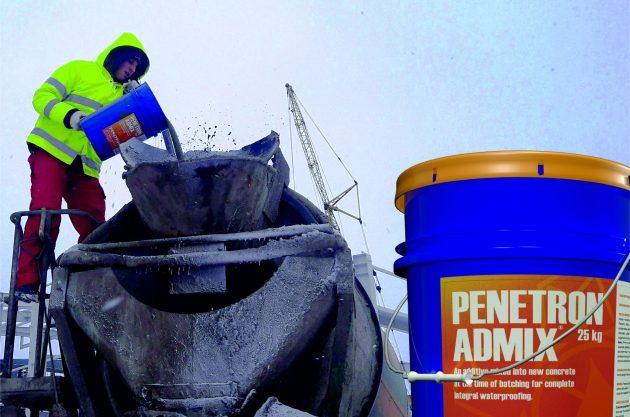 Использование Пенетрон Адмикс на стройплощадках