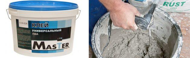 Клей ПВА повышает качество бетонного раствора