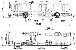 ЛиАЗ-5256 - размеры