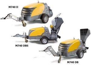 Модели бетононасосов Putzmeister M740