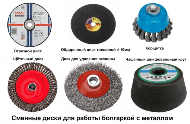 Насадки для различных работ по металлу для болгарки