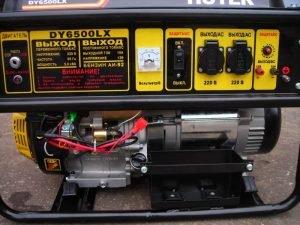 Панель управления генератором HUTER DY6500LX