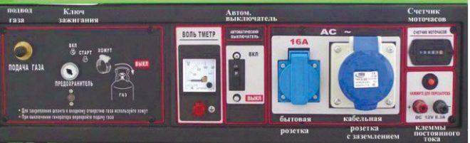 Панель управления генераторов Green Power СС1500 и СС3000