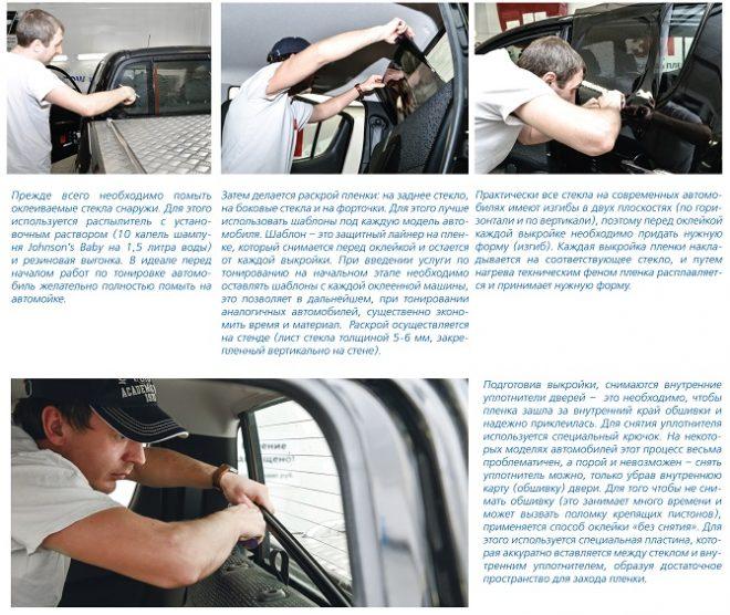 Процесс тонировки стекол автомобиля