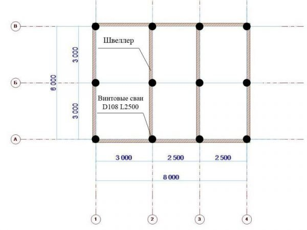 Расчет количества свай для фундамента