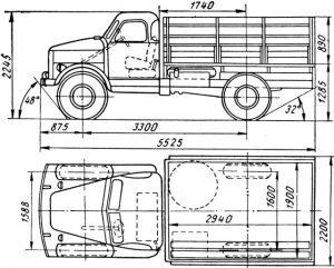 Размеры ГАЗ-63