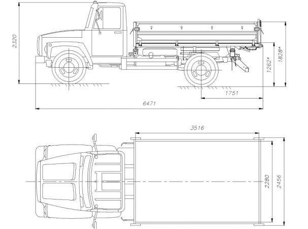 Размеры ГАЗ-САЗ-35071