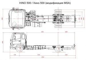 Размеры HINO 500