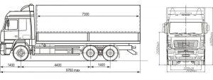 Размеры МАЗ 6312В9