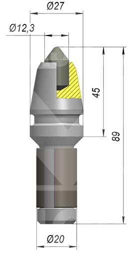 Резец траншейний на БКМ-317