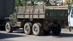 Урал-375 - вид сзади