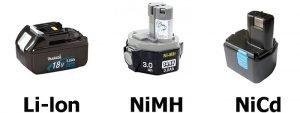 Виды аккумуляторов для шуруповерта