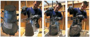 Заливка с помощью вибропресса — механический способ формовки архитектурного бетона